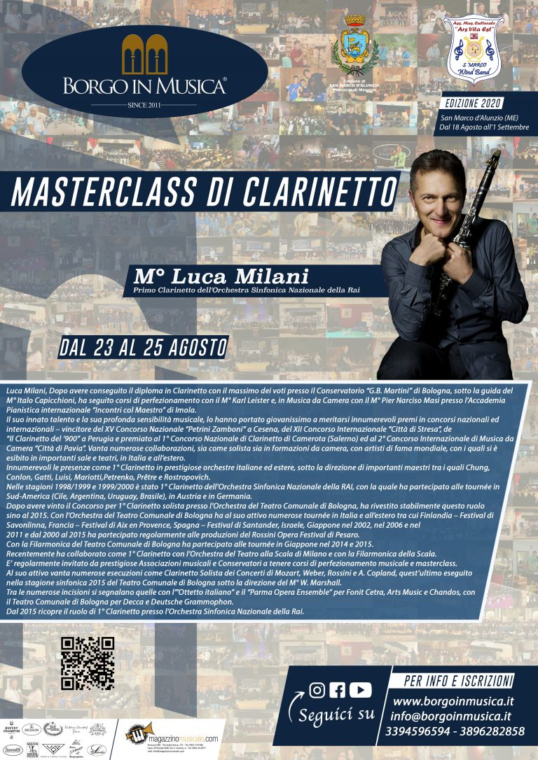 Masterclass Clarinetto
