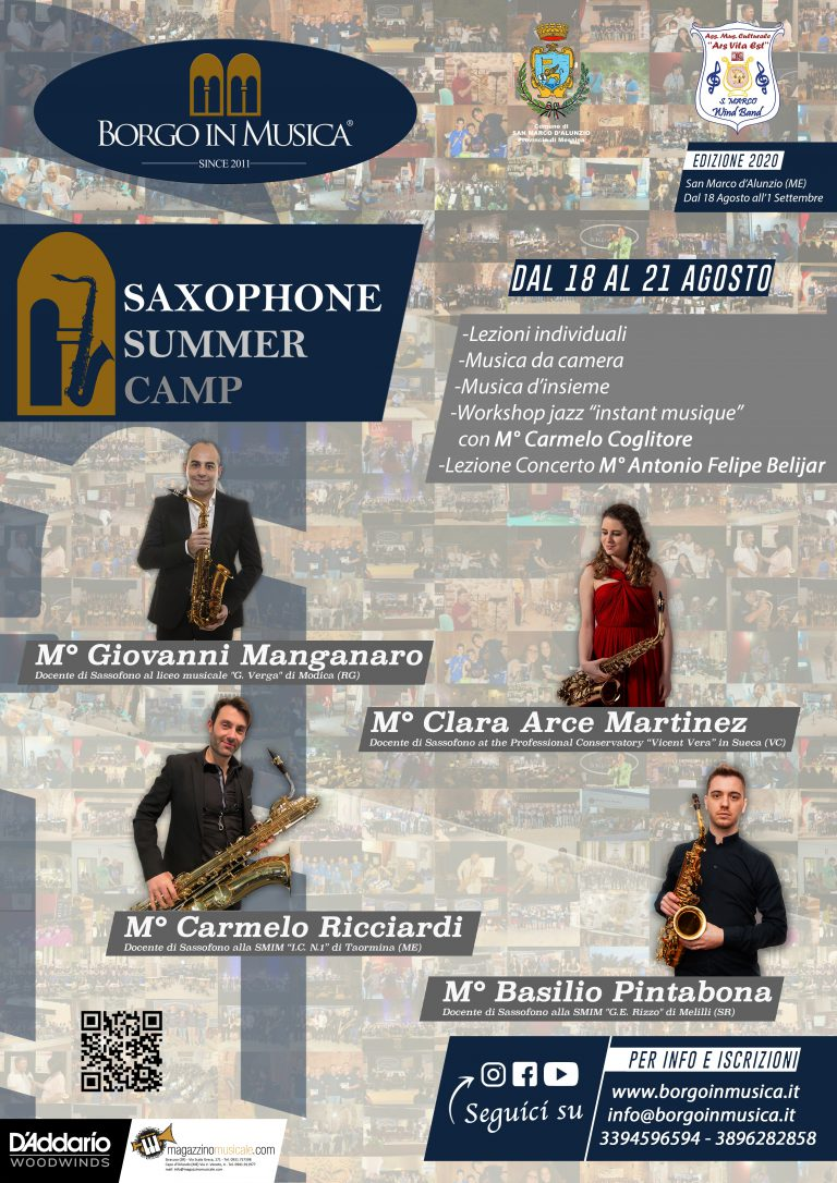 Saxophone Summer Camp